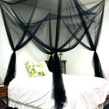 Black Canopy Bed Curtains Black Bed Canopy Canopy Bed Netting ...
