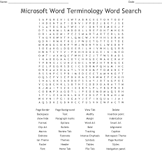 Ms Word Word Search Wordmint
