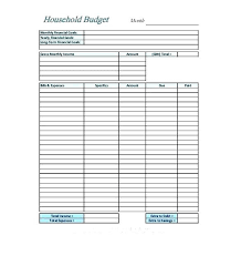 Simple Printable Household Budget Template With To Prepare Perfect