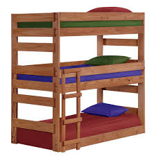 Chelsea Home Furniture 312500 Twin Triple Bunk Bed in Mahogany Stain