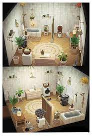 Just Finished My Bathroom But Still A Bit Unsure Feedback And Ideas Are Very Welcome Acnh Animal Crossing Animal Crossing 3ds Animal Crossing Wild World