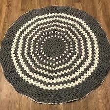 handmade crochet round rug rugs for beginners crochet round rug