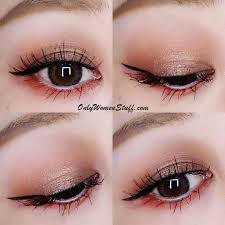 below are some easy step by step monolid eye makeup tutorial with pictures