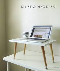 diy home office decor ideas easy. No Need To Spend Hundreds Or Thousands Of Dollars On A Fancy Standing Desk. Turn Your Current Desk Into Deck With This Easy DIY Tabletop Diy Home Office Decor Ideas E