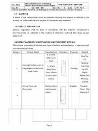 Method Of Statement Inspiration Method Statement Template Doc Building Work Method Statement Cm Ms