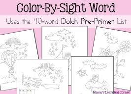 Small Picture Color By Sight Words Worskheets Mamas Learning Corner