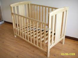 solid wood baby bed