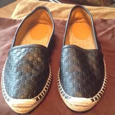 gucci espadrilles. black gucci leather espadrilles