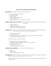 Ideas Collection Writing An Activities Resume For College Best
