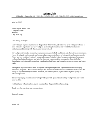 Teacher Aide Cover Letter No Experience Job And Resume Template