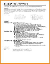 Good Looking Resumes Beautiful Create Good Looking Resume Ideas Entry Level Resume 13