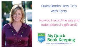 quickbooks gift certificates
