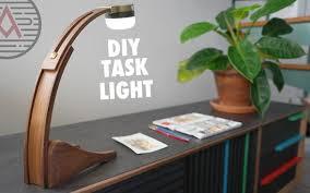 diy battery powered led task light design no 2 woodworking