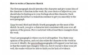 writing character sketch essay example of a character analysis essay