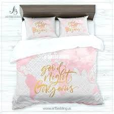 pink and gold bedding pink and gold twin bedding good night gold metallic effect pink world pink and gold bedding white and rose