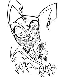 Small Picture Really Scary Monster Coloring Pages Coloring Pages Kids