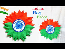 diy independence day badge indian tricolor flag badge making for kids 15 august craft ideas badge