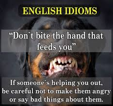 Image result for don't bite the hand that feeds