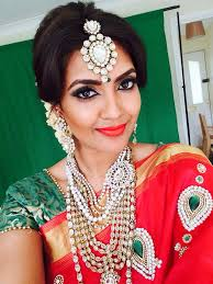 vithya with her own makeup and hair