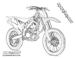 Dirt Bike Outline Dirt Bike Coloring