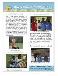 family newsletter blast from the past 2010 newsletter davis family reunion