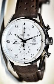 17 best images about men s watches tag heuer tag watch leather band and white face men