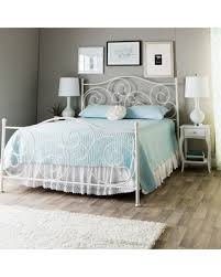 Amazing Deal on Emma Plain White Queen size Bed Emma Queen Bed