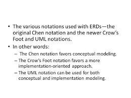 Crow S Foot Notation The Entity Relationship Model Erm Ppt Download