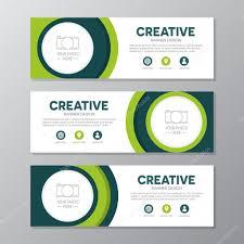 Business Banner Design Green Corporate Business Banner Template Horizontal Advertising