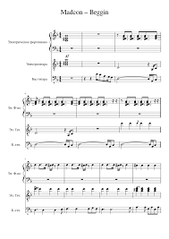 Madcon – Beggin Sheet music for Guitar, Bass, Piano (Mixed Trio) | Download  and print in PDF or MIDI free sheet music for beggin by Madcon (hip hop )