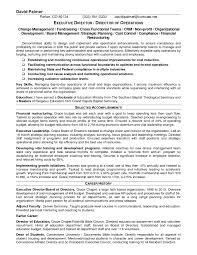 Resume Templates Non Profit Executive Foundation Director Pictures