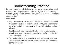 how to write an a sol essay ppt video online  7 brainstorming practice