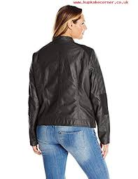 junarose womens plus size ojetta long sleeve shaped short faux leather jacket black