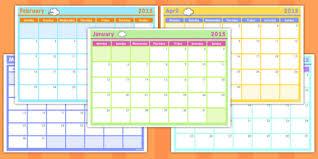 Template Monthly Calendar 2015 Monthly Calendar Planning Template 2015 Calendar 2015 Month