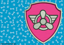 Panther Paw Embroidery Design Logo Of Skye From Paw Patrol Embrosoft Embroidery Design