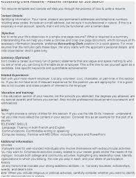 how to write an accounting resume 25 inspirational fresher accountant resume sample pics