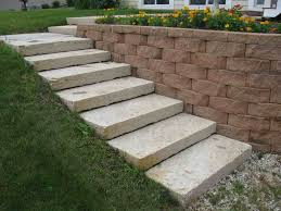 Cinder Block Stairs Idea With Plant