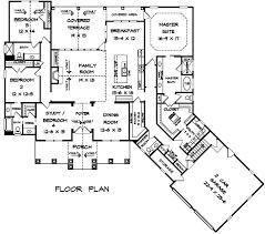 craftsman house plan 58255 level one