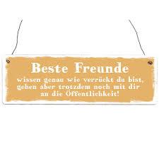 Interluxe Holzschild Beste Freunde Geschenk Lustig Shabby Freunde