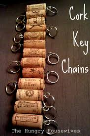 create cool cork key chains