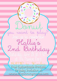 Party Invitation Images Free Free Customizable Donut Birthday Party Invitation The Pinning Mama