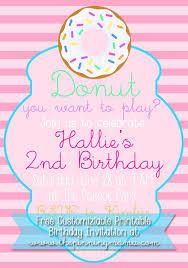 customizable donut birthday party invitation free at thepinningmama