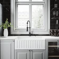 vigo farmhouse sink. VIGO Matte Stone Farmhouse 33-in X 18-in White Double-Basin Vigo Sink E