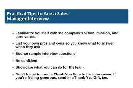 Interview Questions For Account Managers How To Crack A Sales Manager Interview Quora