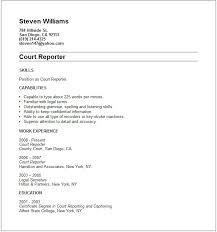 court reporter resume example free templates collection .