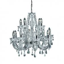marie therese chrome 12 light chandelier with crystal decoration searchlight 399 12