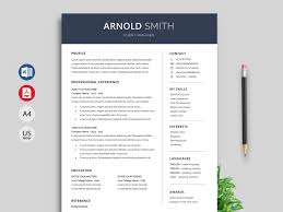 One Page Resume Templates Modern Template Cv Template Word Format Anchor Resume Template