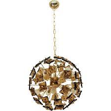 brass and glass vintage sputnik pendant