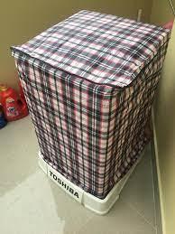 Áo trùm máy giặt từ 11-15 kg bằng vải dù cửa trên và cửa ngang