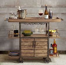 Wine Carts Cabinets Rustic Bar Cart Portable Serving Tray Wine Beverage Drink Tea
